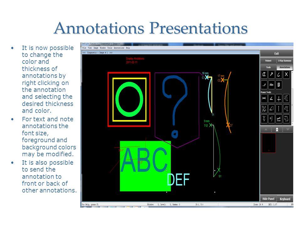 Annotations Presentations