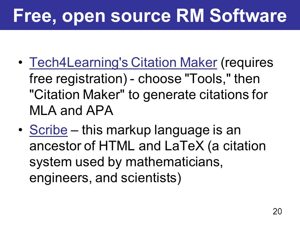 Free, open source RM Software