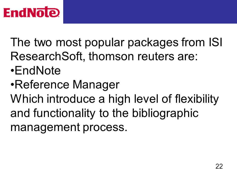 EndNote X2 Training Materials