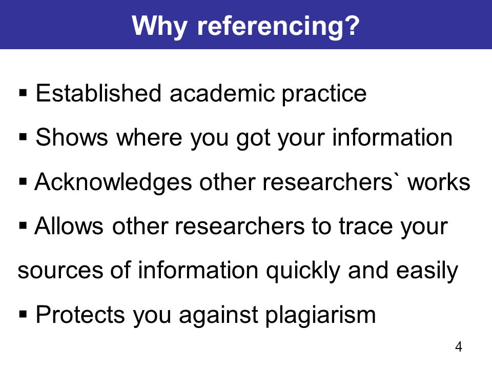 Why referencing Established academic practice