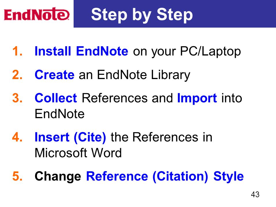 Step by Step Install EndNote on your PC/Laptop