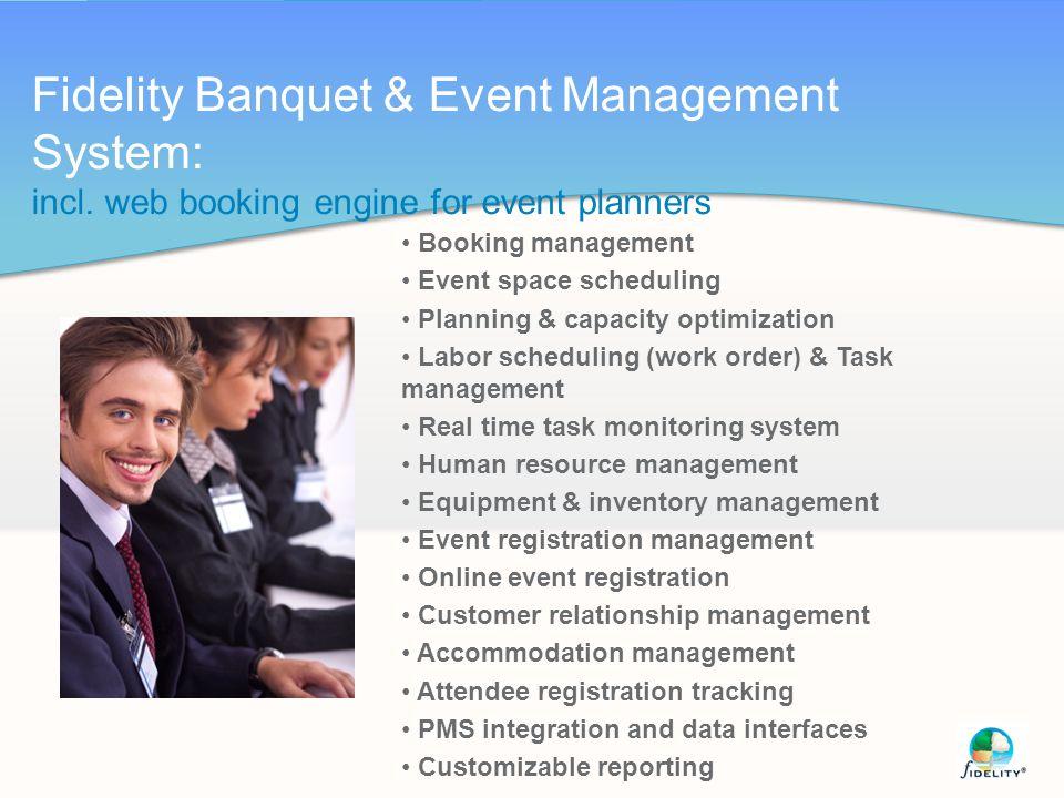 Fidelity Banquet & Event Management System: incl