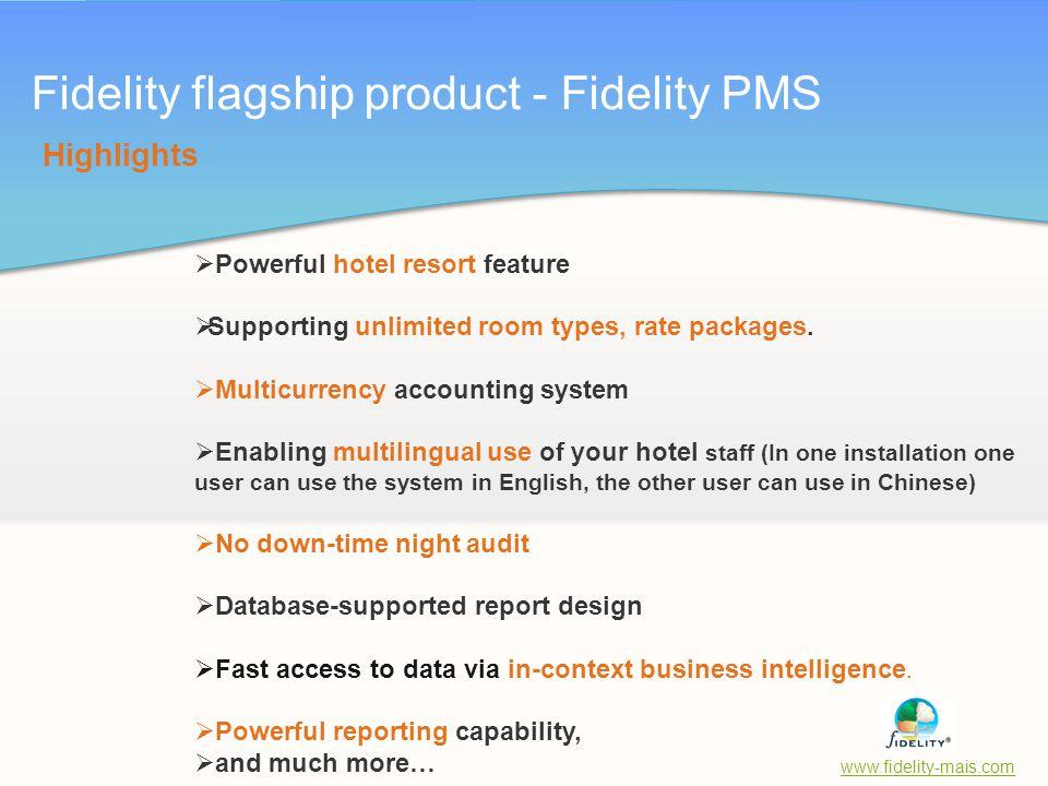 Fidelity flagship product - Fidelity PMS