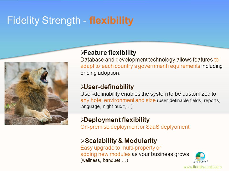 Fidelity Strength - flexibility