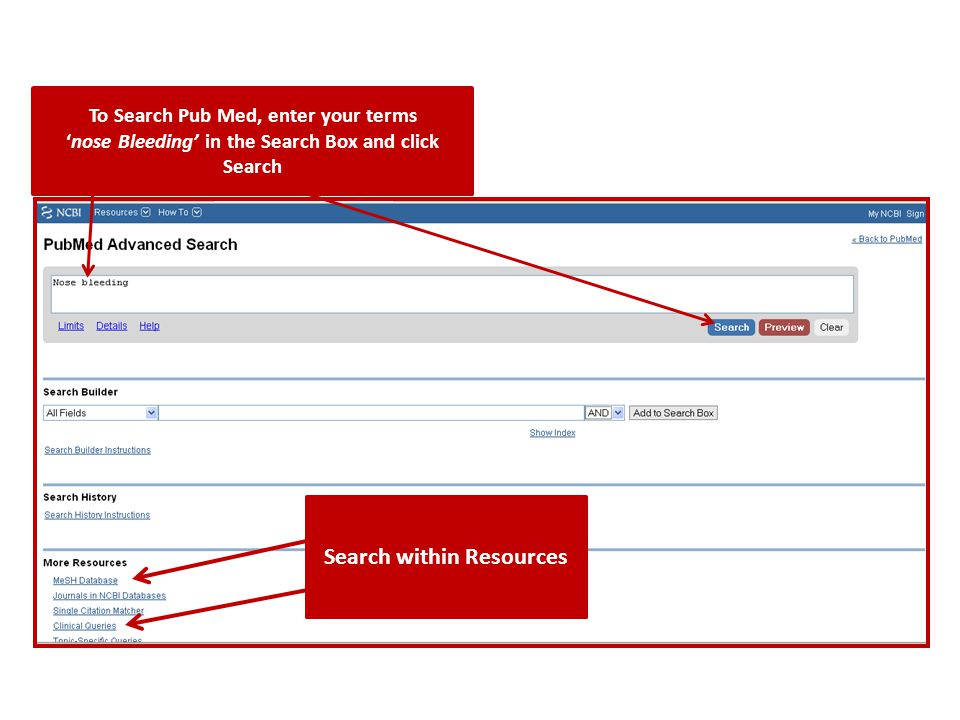 Search within Resources