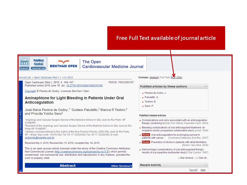 Free Full Text available of journal article