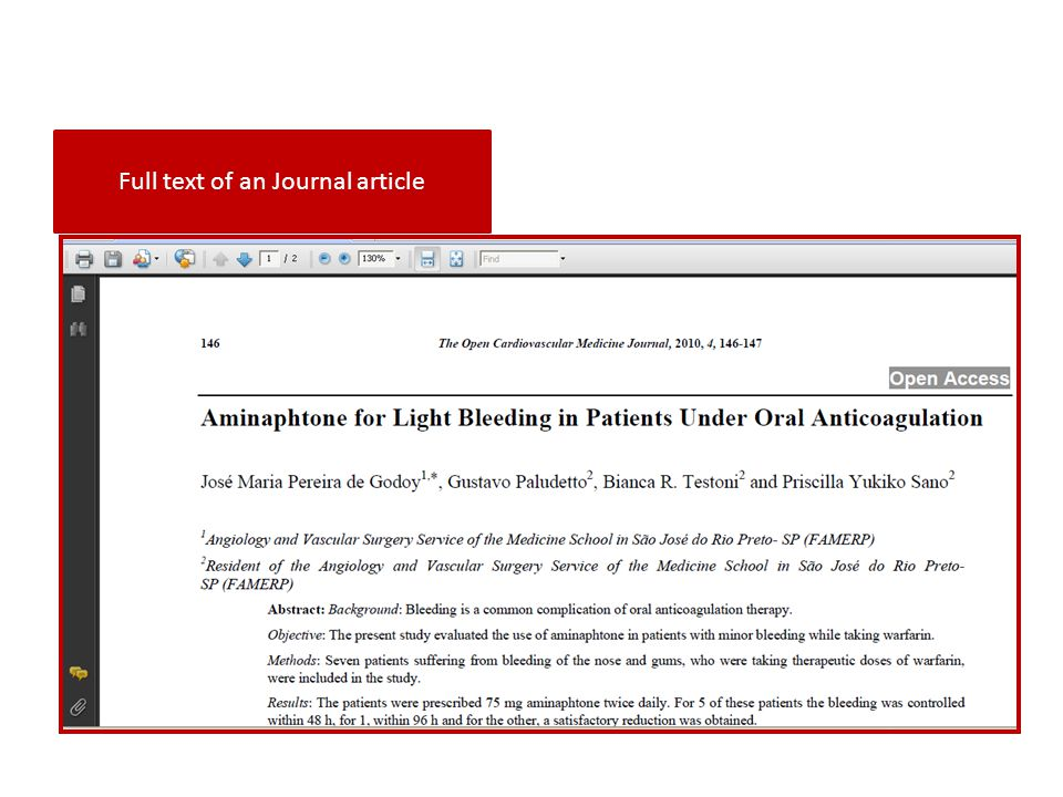 Full text of an Journal article