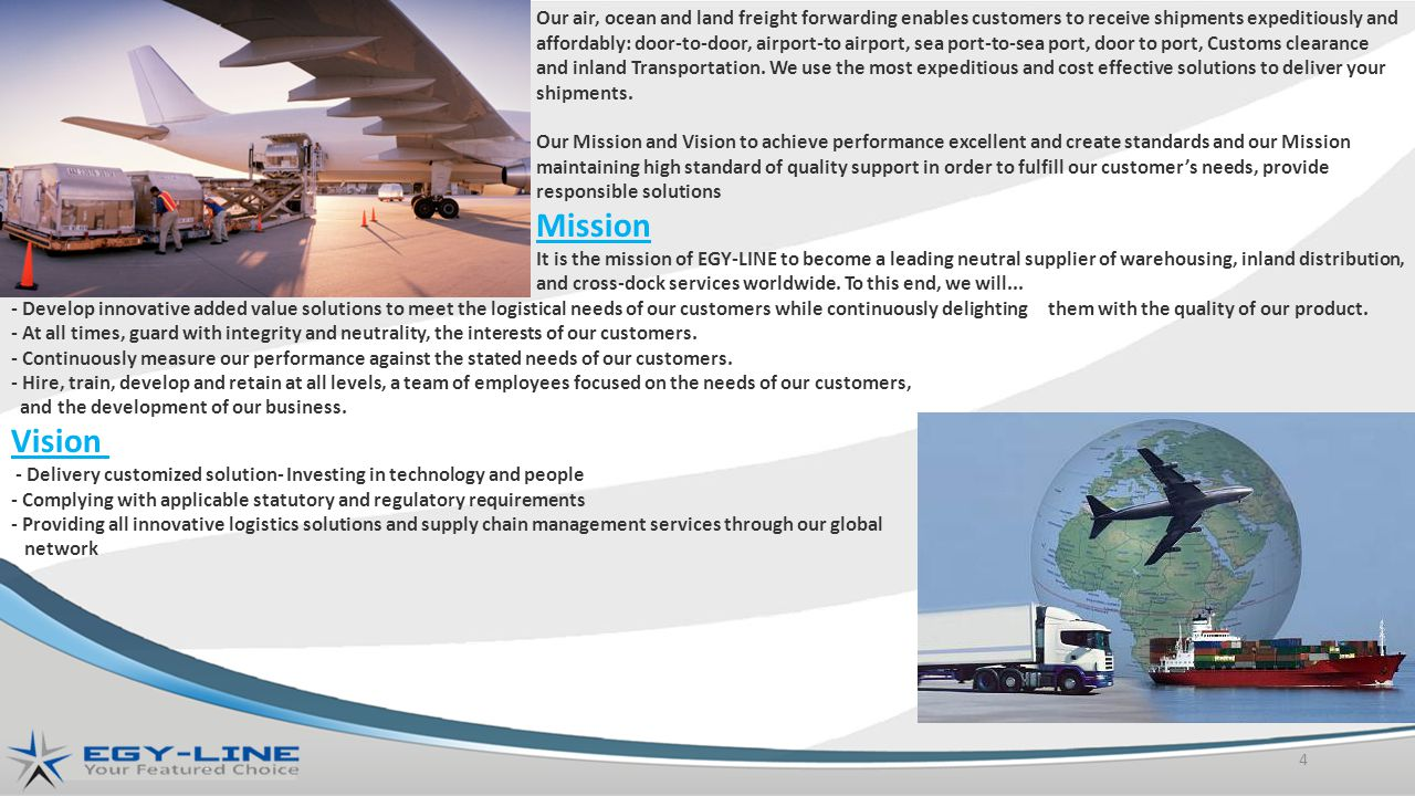 Our air, ocean and land freight forwarding enables customers to receive shipments expeditiously and