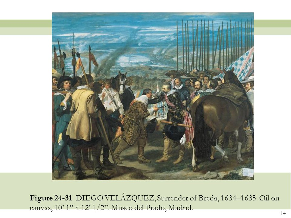 Figure 24-31 DIEGO VELÁZQUEZ, Surrender of Breda, 1634–1635