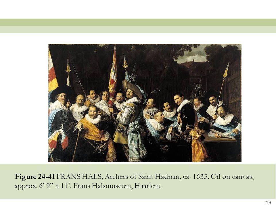 Figure 24-41 FRANS HALS, Archers of Saint Hadrian, ca. 1633