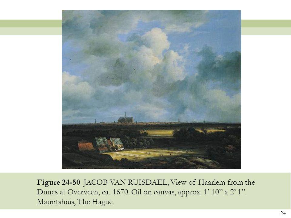 Figure 24-50 JACOB VAN RUISDAEL, View of Haarlem from the Dunes at Overveen, ca.