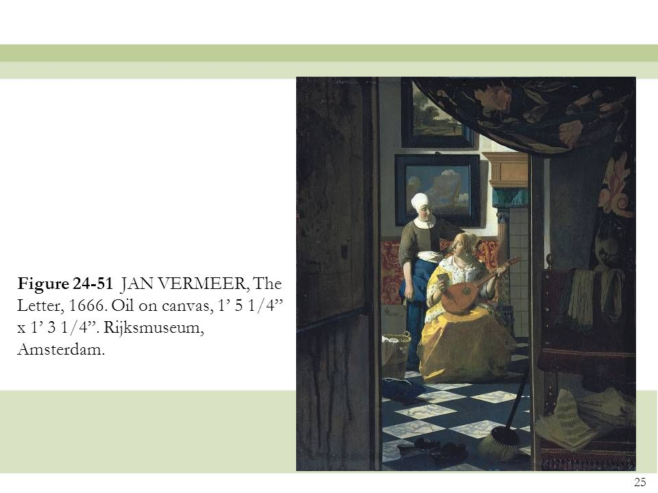 Figure 24-51 JAN VERMEER, The Letter, 1666