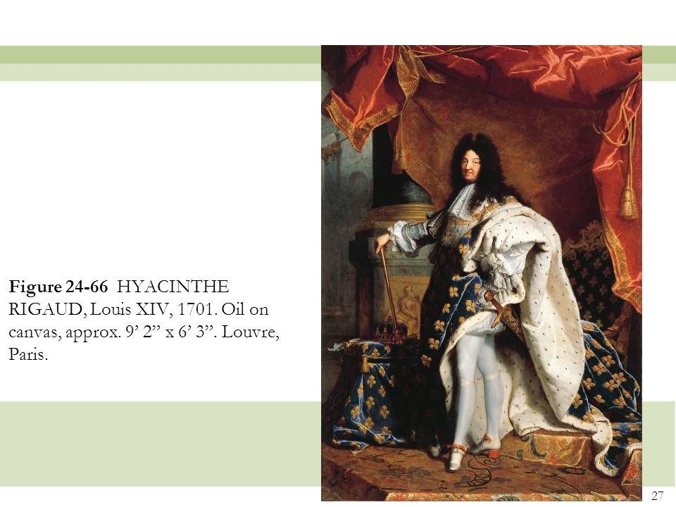 Figure 24-66 HYACINTHE RIGAUD, Louis XIV, 1701. Oil on canvas, approx