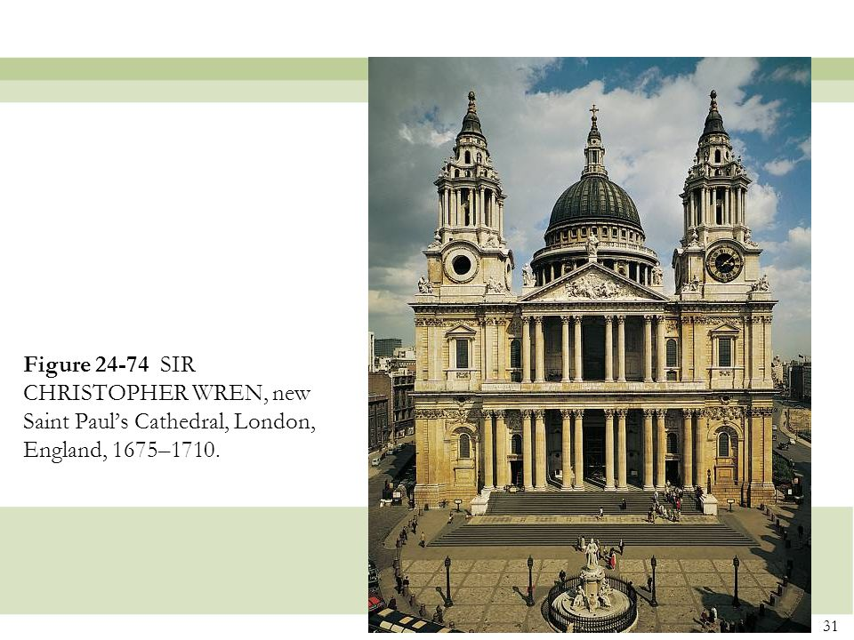 Figure 24-74 SIR CHRISTOPHER WREN, new Saint Paul's Cathedral, London, England, 1675–1710.