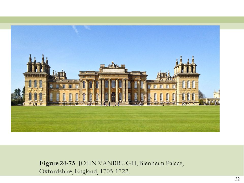 Figure 24-75 JOHN VANBRUGH, Blenheim Palace, Oxfordshire, England, 1705-1722.