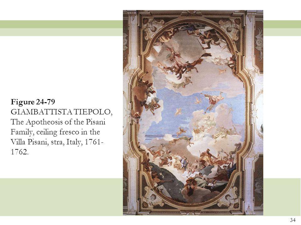 Figure 24-79 GIAMBATTISTA TIEPOLO, The Apotheosis of the Pisani Family, ceiling fresco in the Villa Pisani, stra, Italy, 1761-1762.