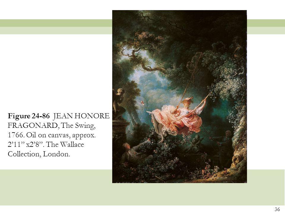 Figure 24-86 JEAN HONORE FRAGONARD, The Swing, 1766