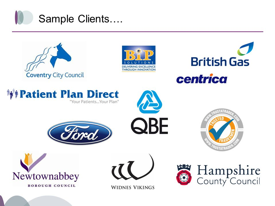 Sample Clients….