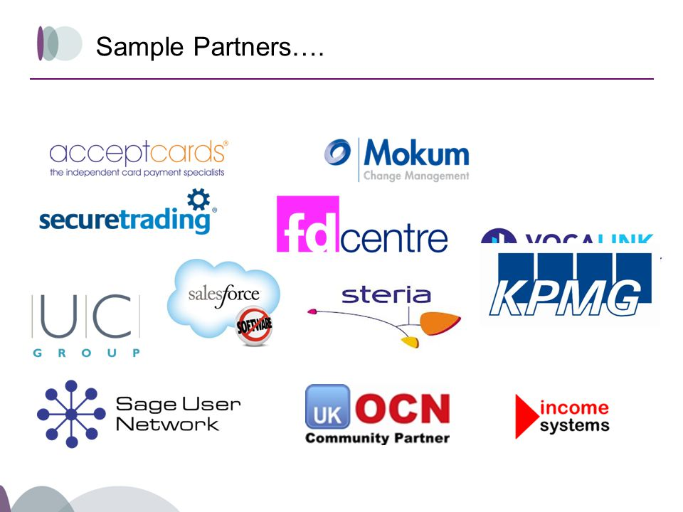 Sample Partners….