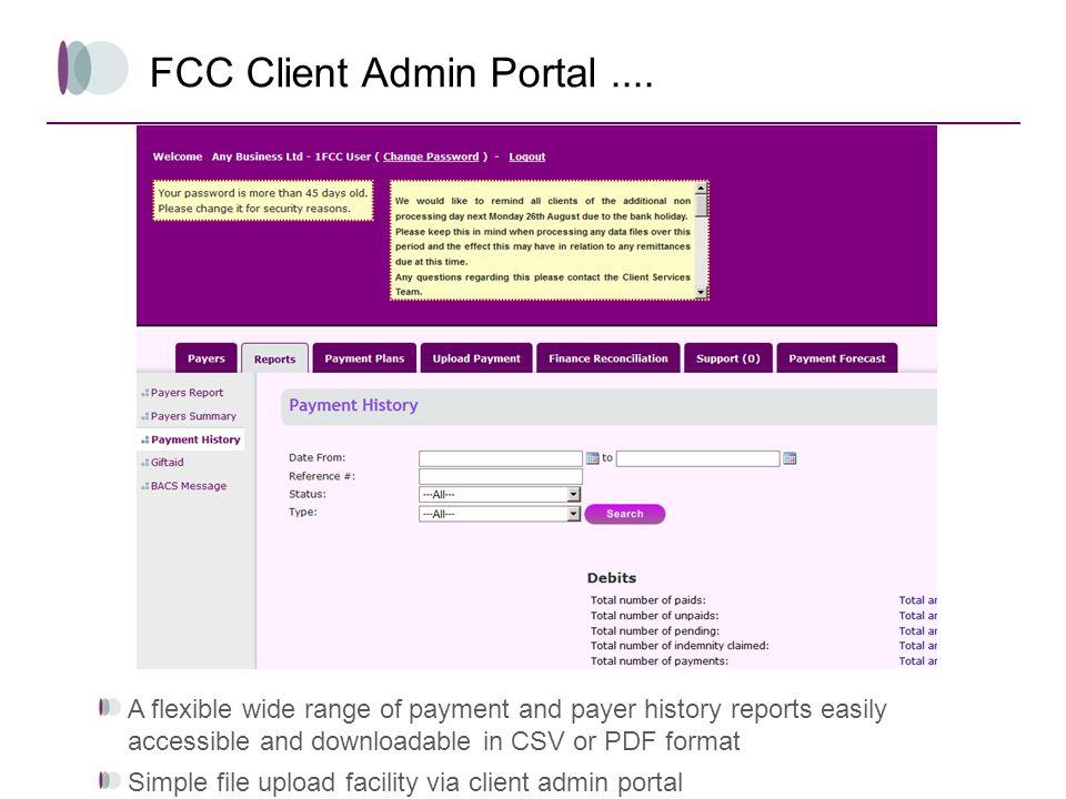 FCC Client Admin Portal ....