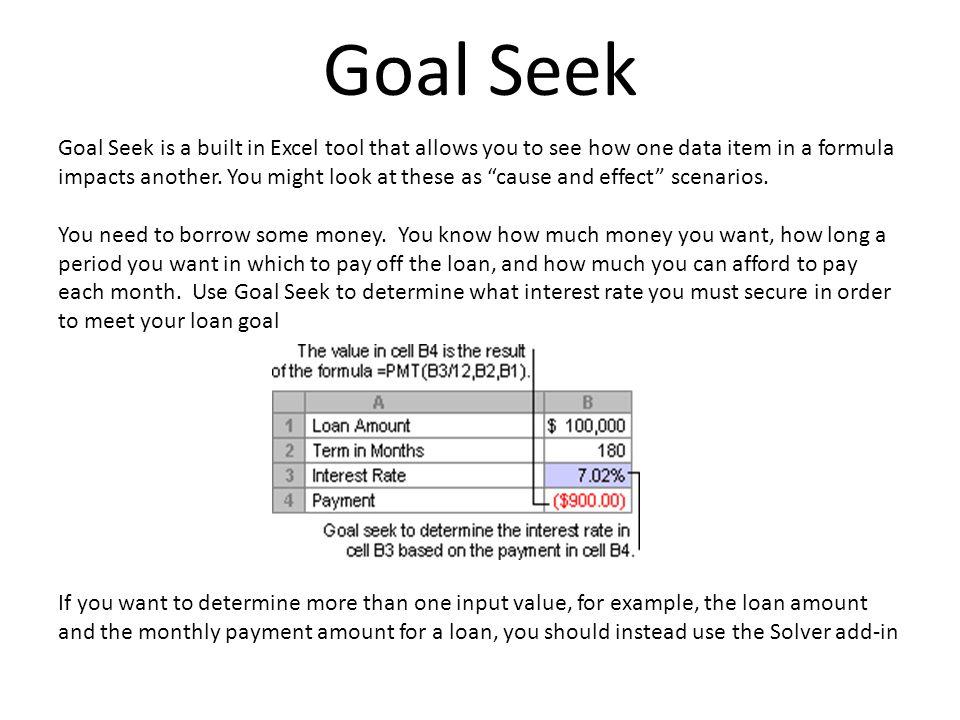 Goal Seek