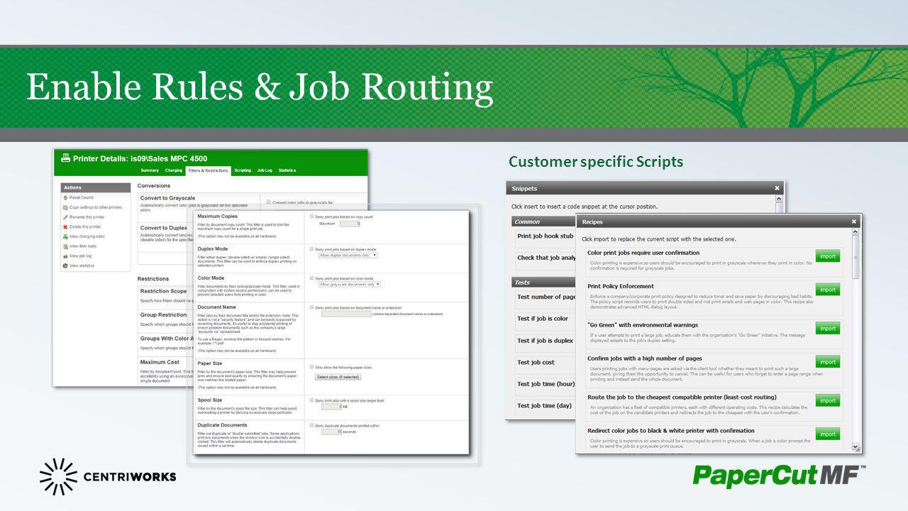 Customer specific Scripts