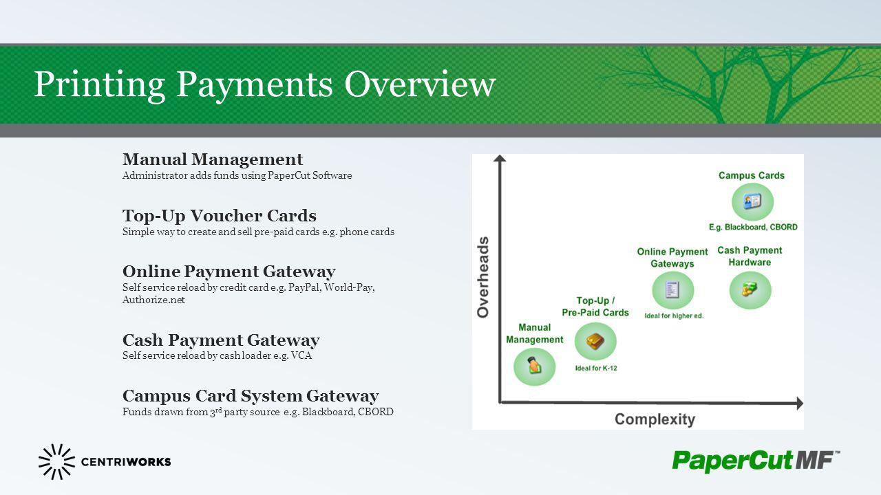 Printing Payments Overview