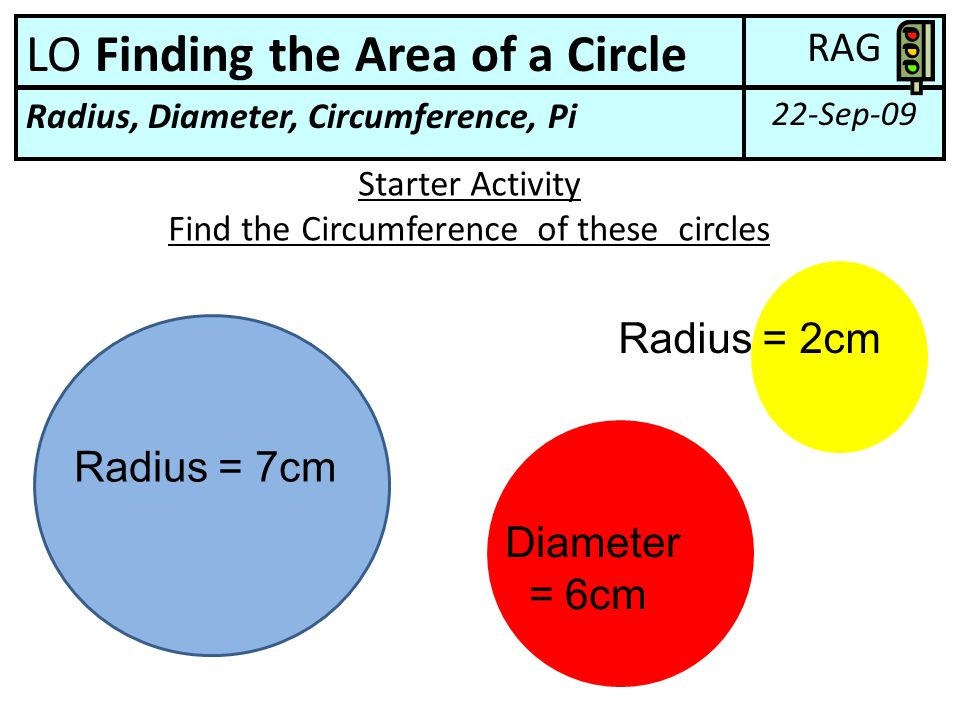 Find the Circumference of these circles