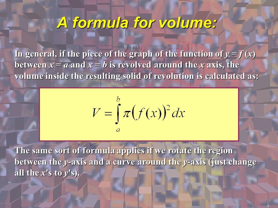 A formula for volume: