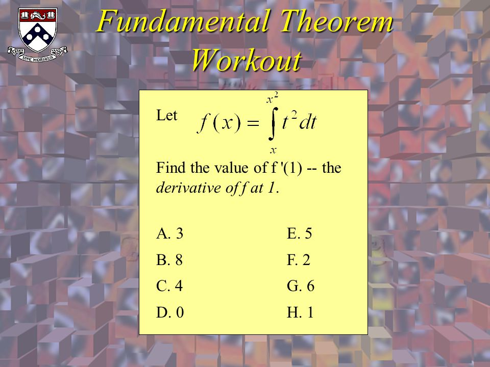 Fundamental Theorem Workout