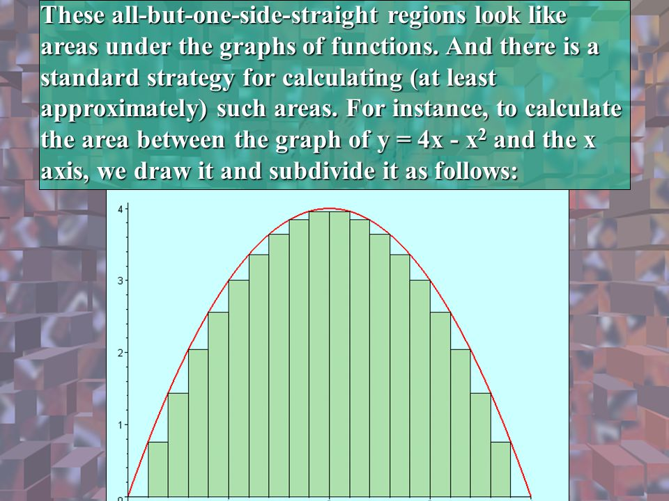These all-but-one-side-straight regions look like areas under the graphs of functions.