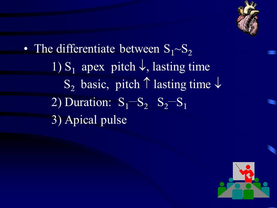 The differentiate between S1~S2