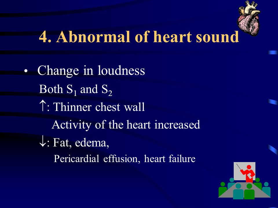 4. Abnormal of heart sound