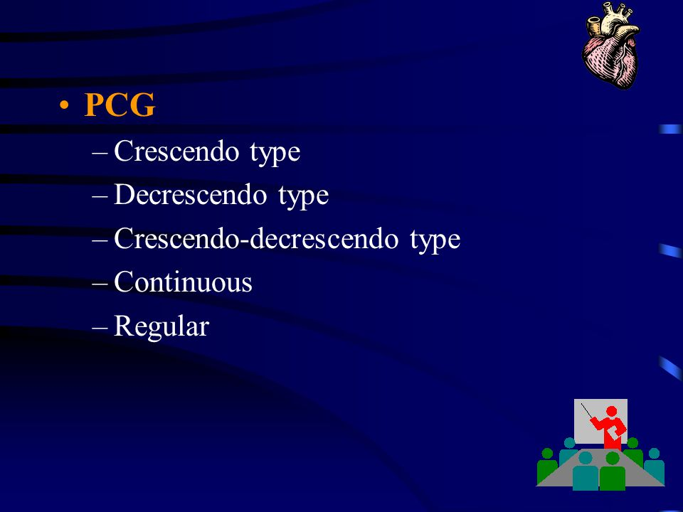 PCG Crescendo type Decrescendo type Crescendo-decrescendo type