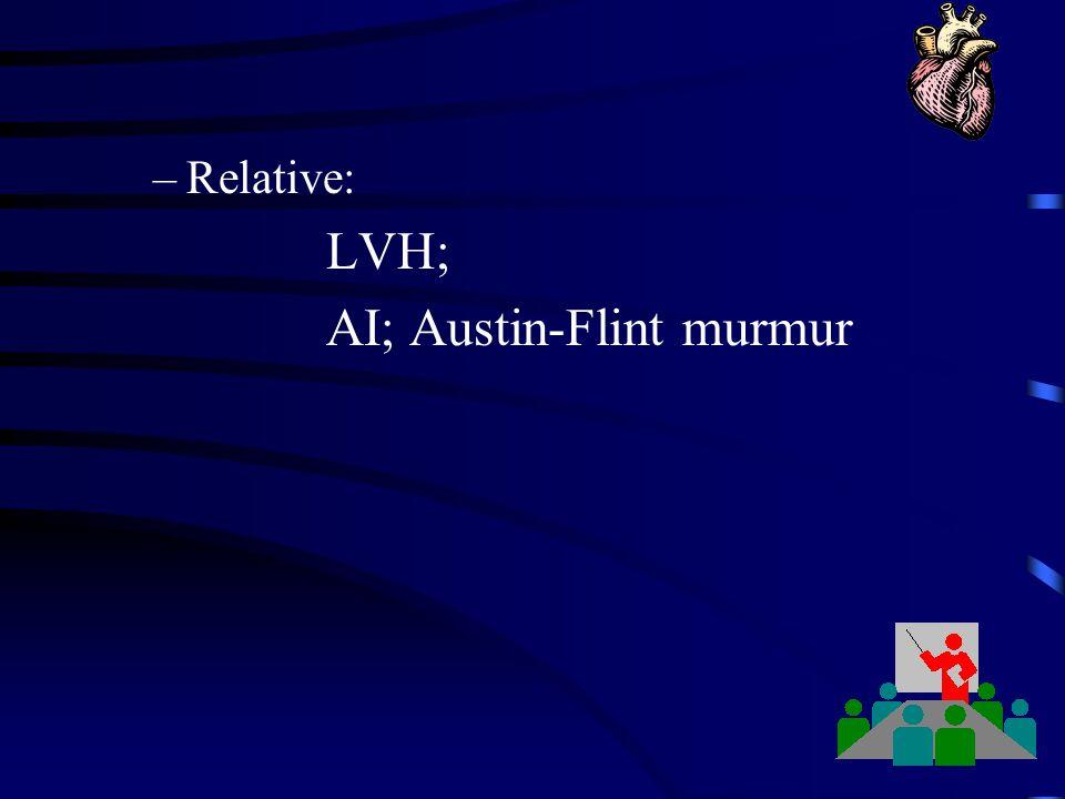 AI; Austin-Flint murmur