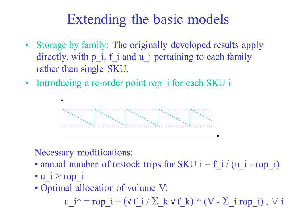Extending the basic models