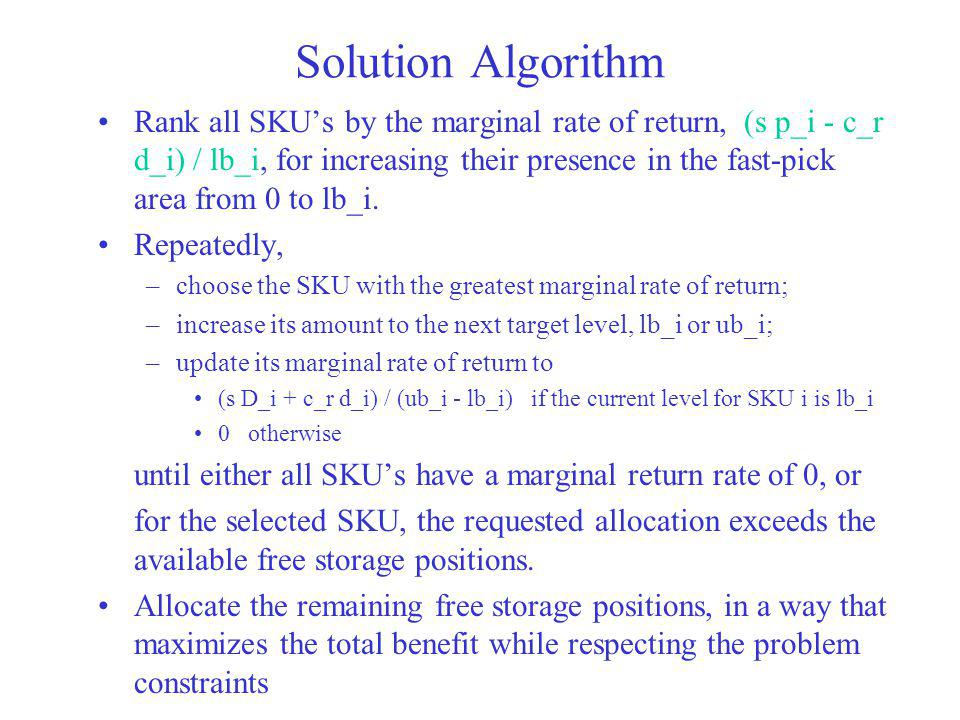 Solution Algorithm