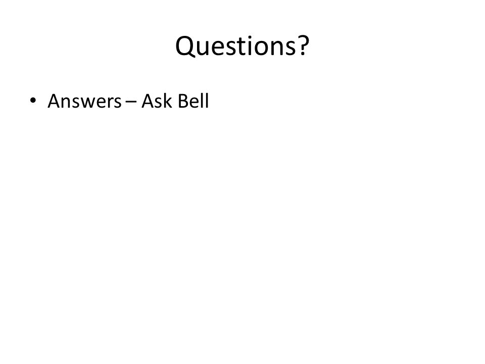 Questions Answers – Ask Bell