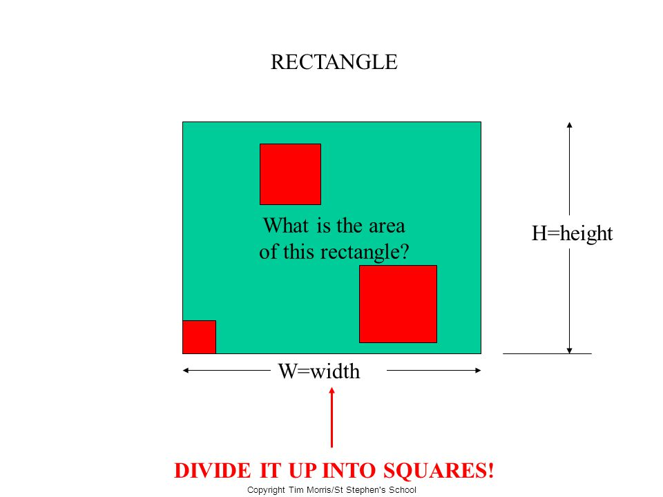 DIVIDE IT UP INTO SQUARES!