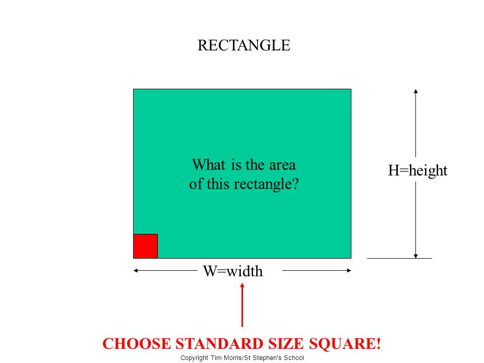 CHOOSE STANDARD SIZE SQUARE!