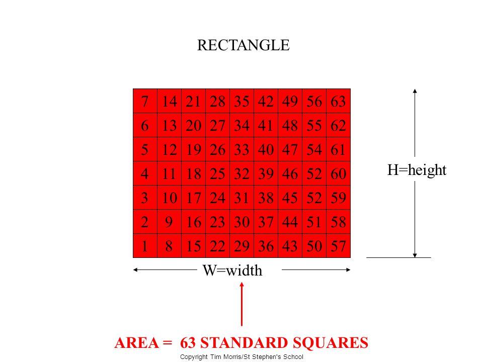AREA = 63 STANDARD SQUARES