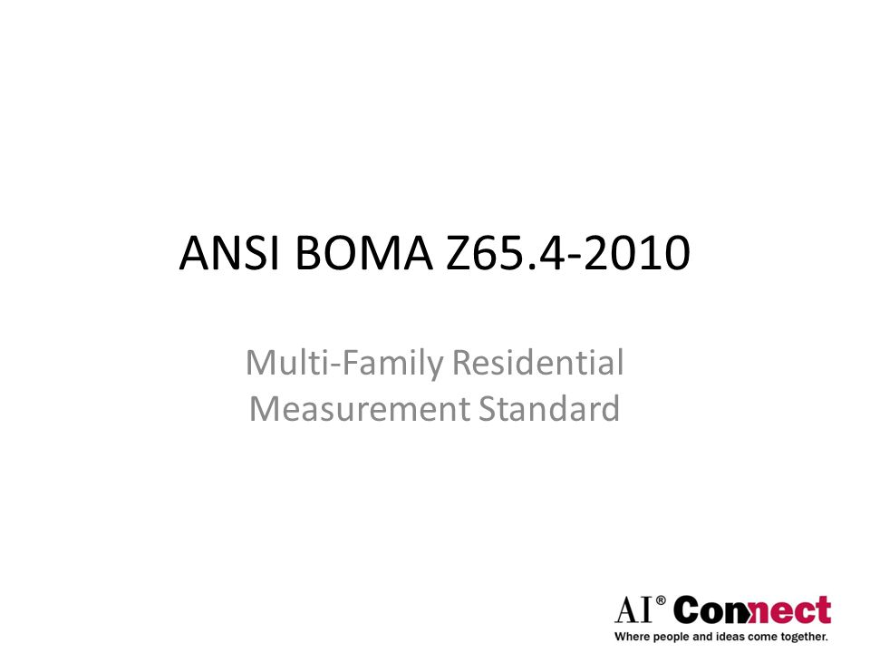 Multi-Family Residential Measurement Standard