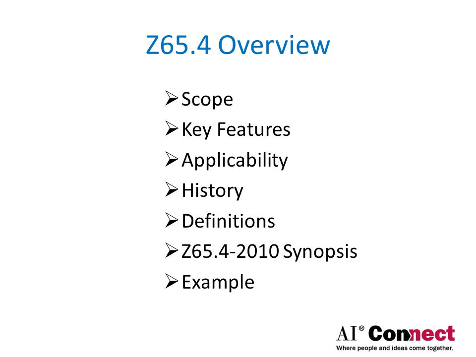 Z65.4 Overview Scope Key Features Applicability History Definitions