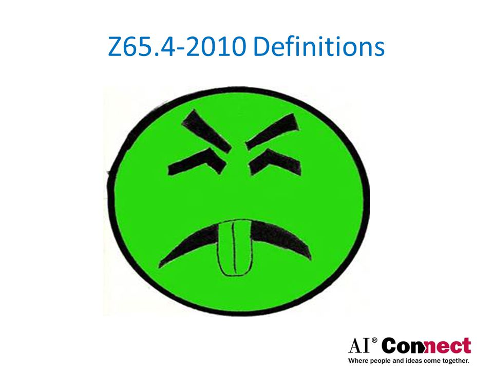 Z65.4-2010 Definitions