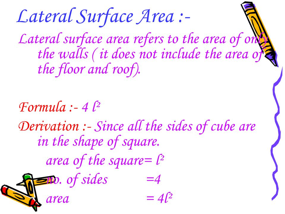 Lateral Surface Area :-