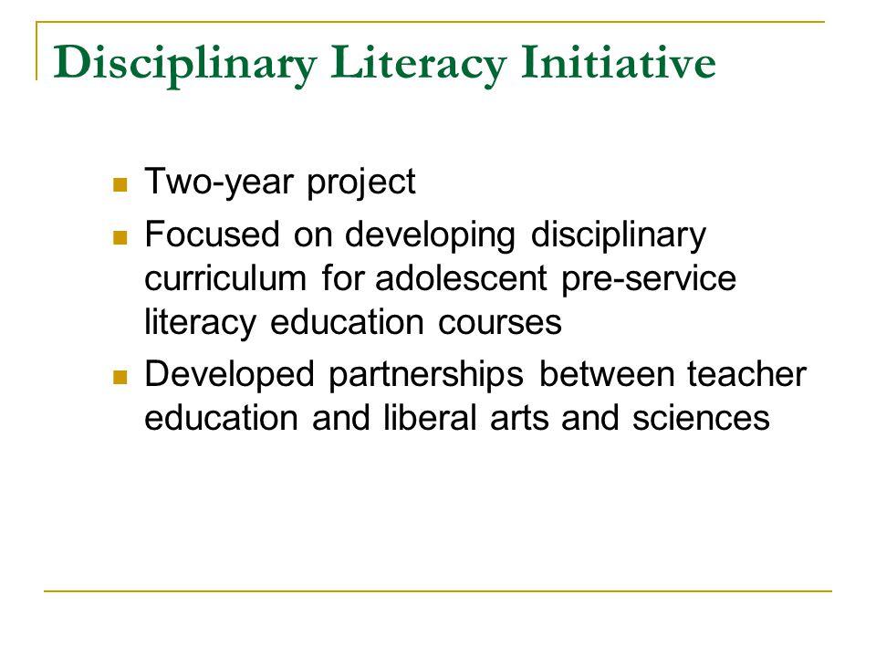 Disciplinary Literacy Initiative