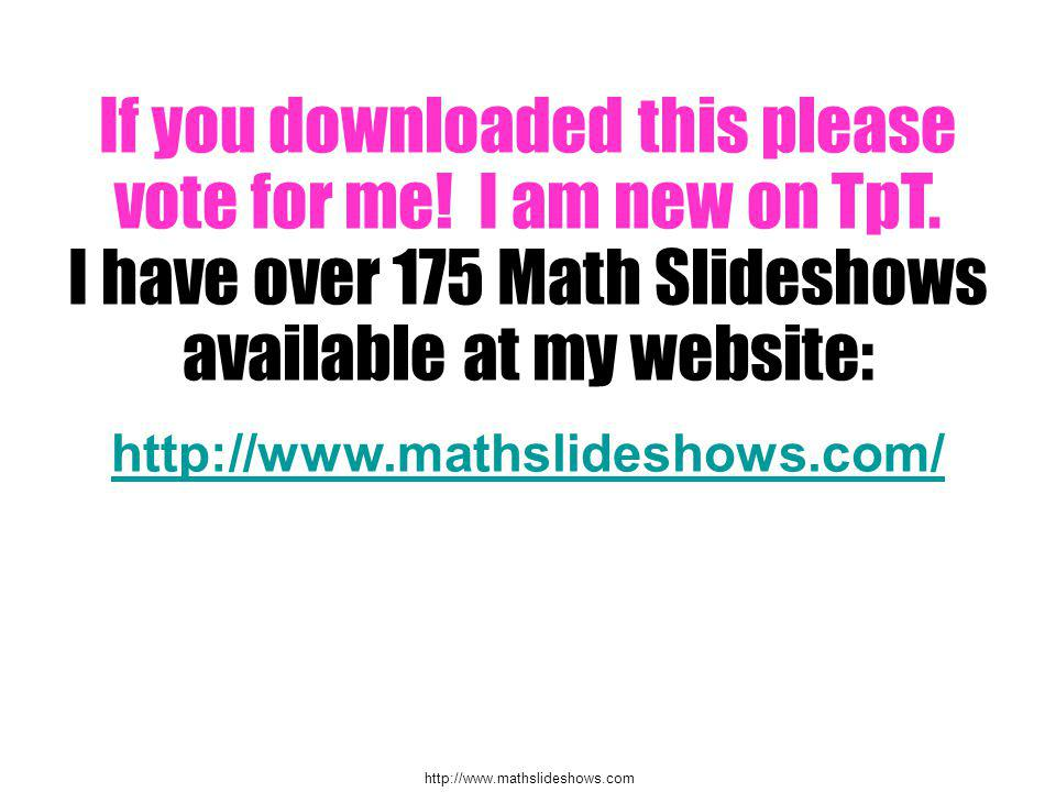 If you downloaded this please vote for me. I am new on TpT