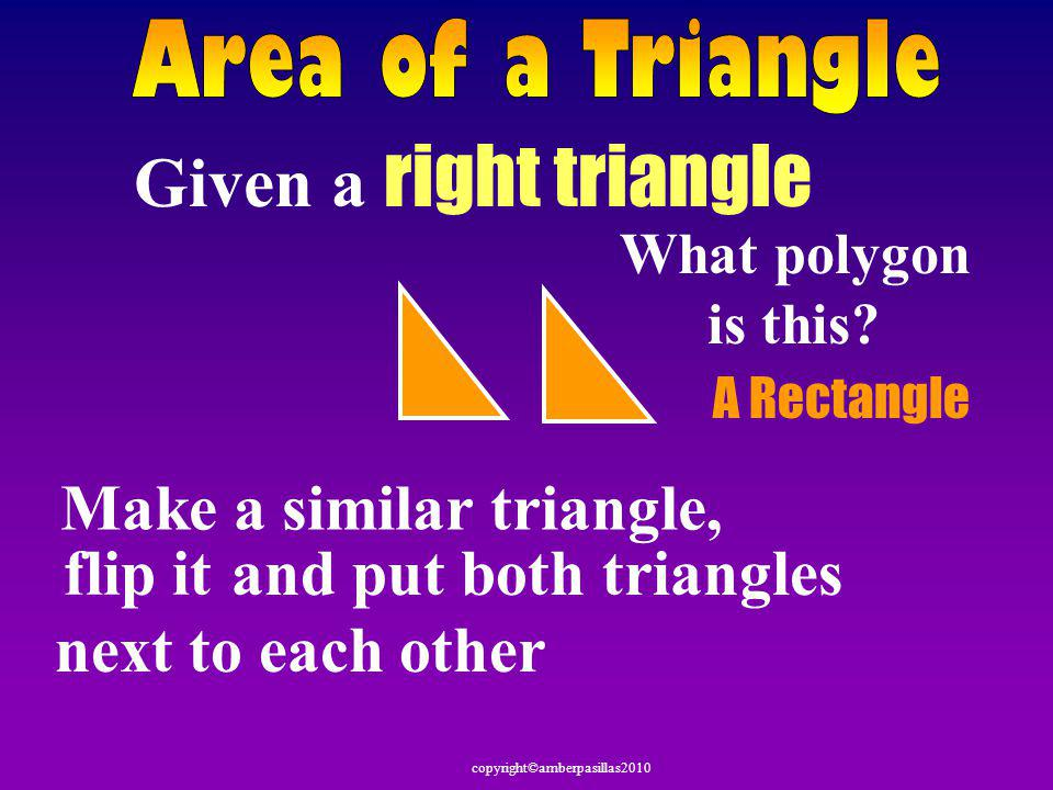Given a right triangle Make a similar triangle,