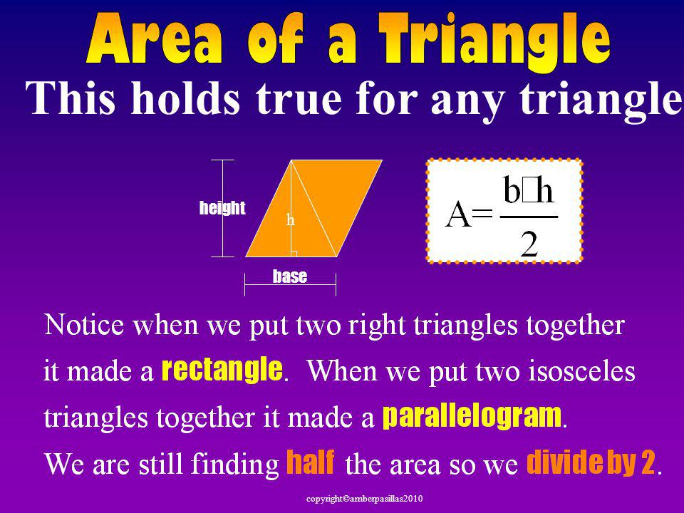 This holds true for any triangle