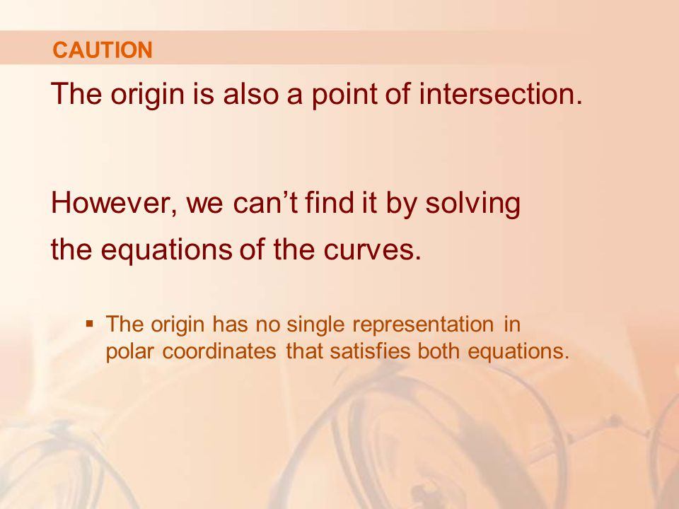 The origin is also a point of intersection.